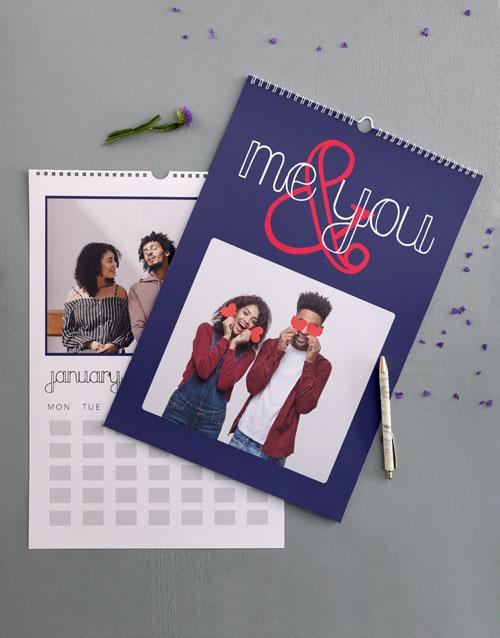 christmas: Personalised Us Wall Calendar!