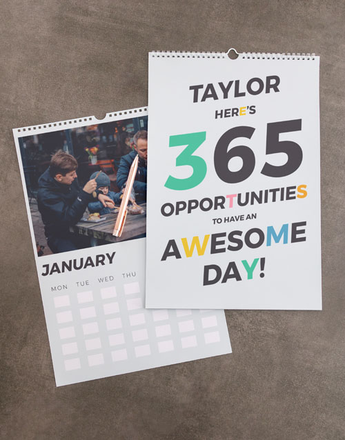 christmas: Personalised Opportunities Wall Calendar!