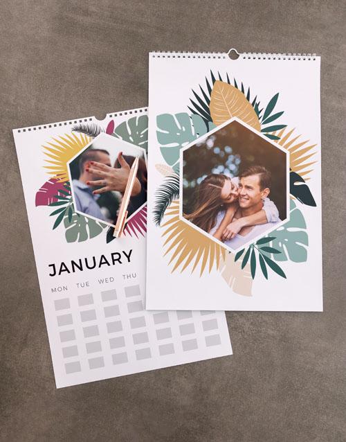 christmas: Personalised Tropical Wall Calendar!
