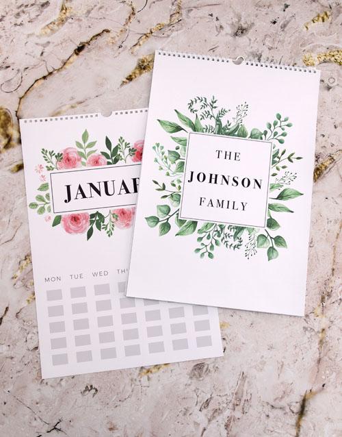 christmas: Personalised Botanical Family Wall Calendar!