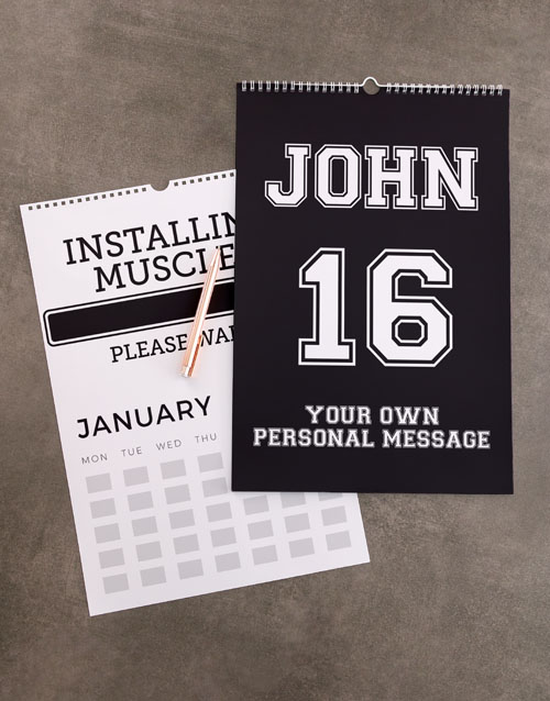 christmas: Personalised Sporty Wall Calendar!