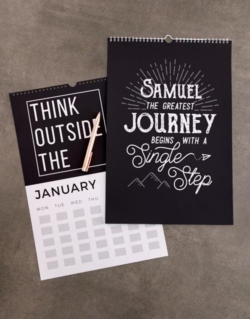 christmas: Personalised Inspirational Wall Calendar!