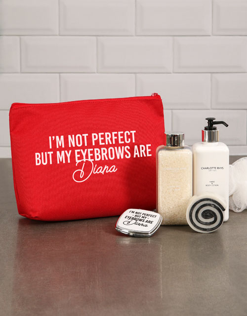 bath-and-body: Personalised Perfect Eyebrows Cosmetic Bag!