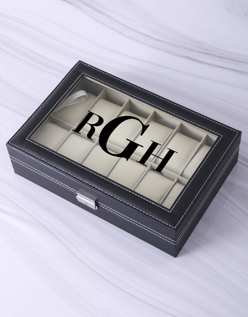 fathers-day: Personalised Initials Watch Box!
