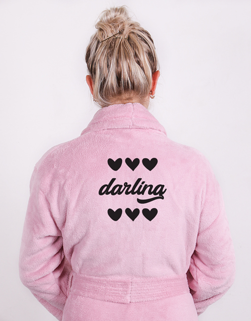 valentines-day: Personalised Darling Pink Gown !