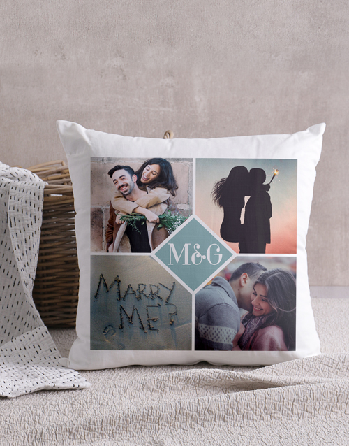 anniversary: Personalised Love Initials Scatter Cushion!