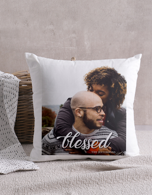 anniversary: Personalised Blessed Photo Scatter Cushion!