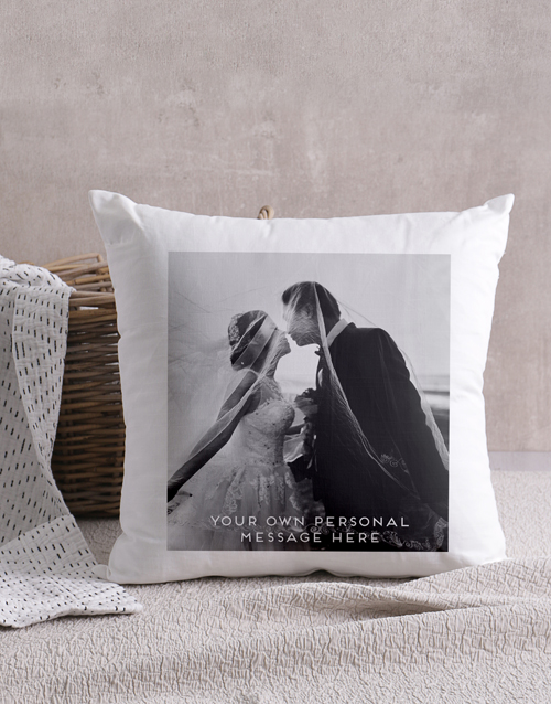 anniversary: Personalised Photo Message Scatter Cushion !