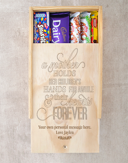 mothers-day: Personalised Hearts Forever Choc Crate!