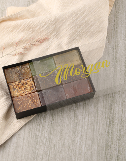 mothers-day: Personalised Name Herbal Soap Gift Box!