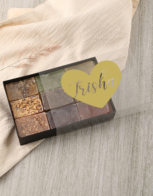 personalised: Personalised Heart Herbal Soap Gift Box!