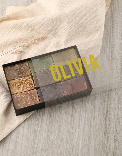spring-day: Personalised Modern Name Herbal Soap Gift Box!
