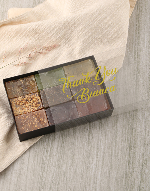 bosses-day: Personalised Thank You Herbal Soap Gift Box!