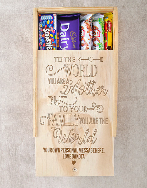 mothers-day: Personalised You Are The World Choc Crate!