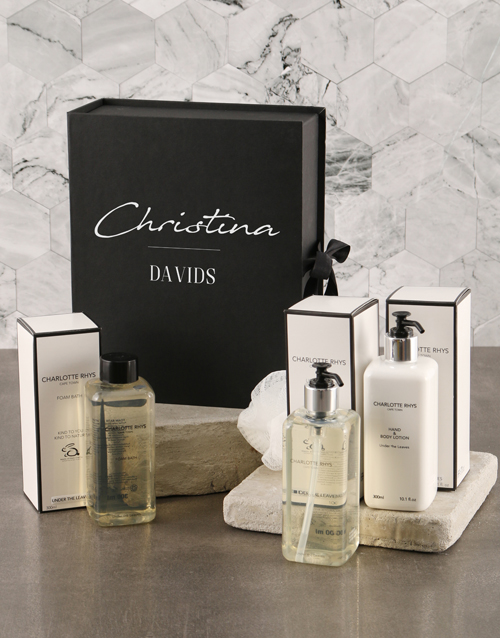 bath-and-body: Personalised Chic Charlotte Rhys Luxury Box Set!