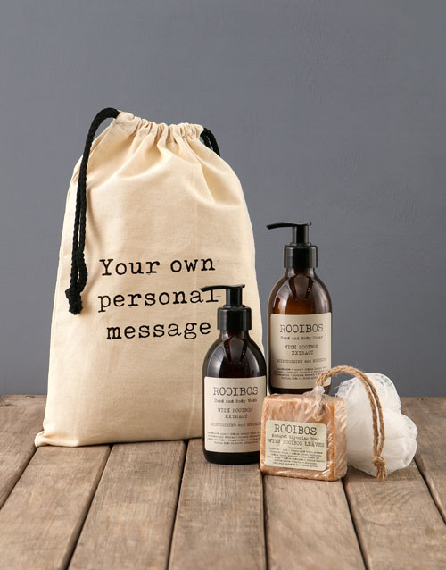 bosses-day: Personalised Typed Rooibos Bath Time Bag!