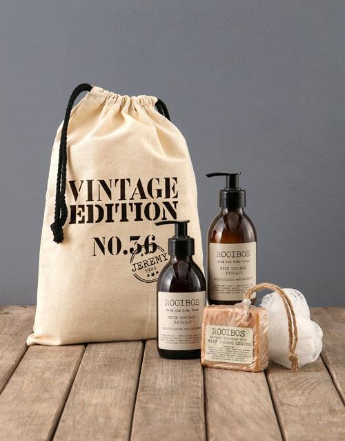 bath-and-body: Personalised Vintage Rooibos Bath Time Bag!