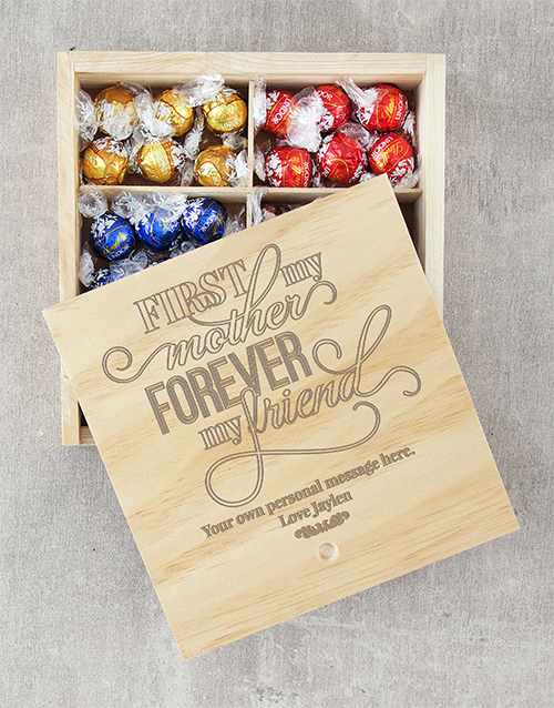 mothers-day: Personalised Forever My Friend Lindt Crate!