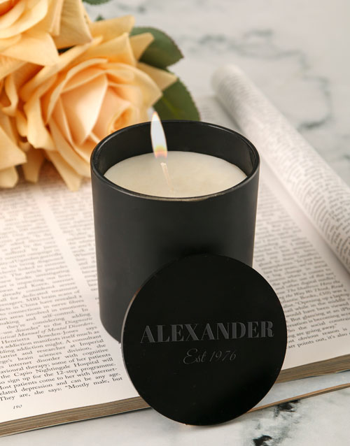 bosses-day: Personalised Chic Vanilla Scented Candle Set!