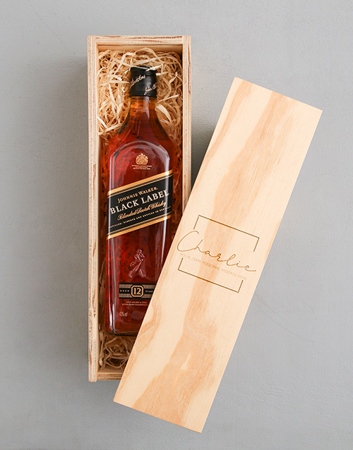 valentines-day: Personalised Classic Johnnie Walker Red Crate!