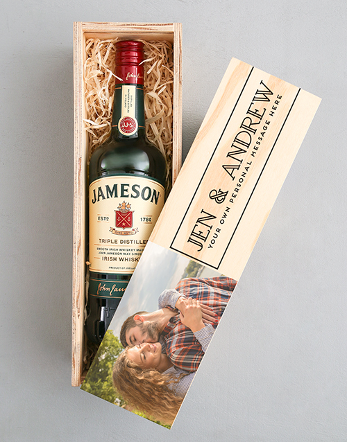 fathers-day: Personalised Photo Jameson Crate!