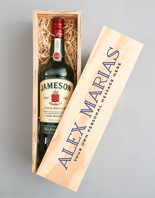 personalised: Personalised Traditional Jameson Crate!