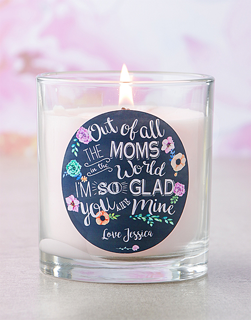 mothers-day: Personalised Pink Out Of All The Moms Candle!