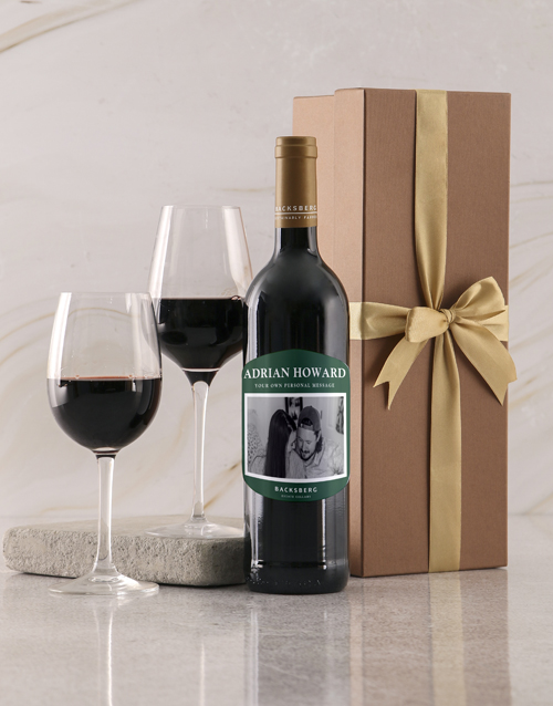 anniversary: Personalised Emerald Label Backsberg Wine!