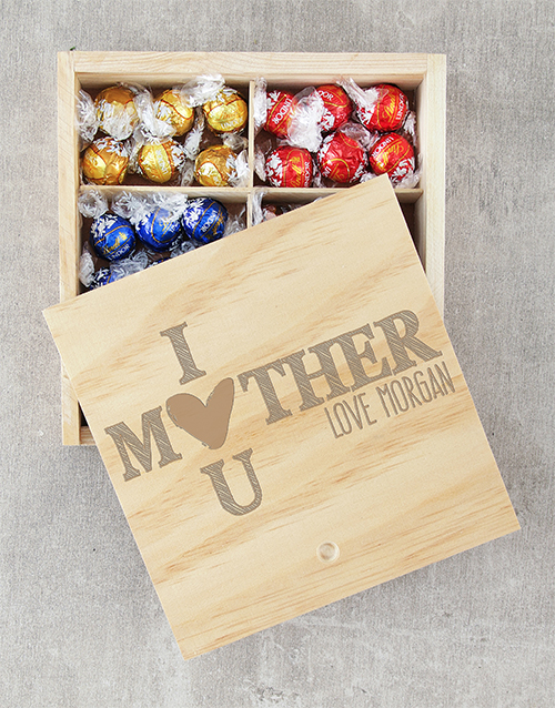 mothers-day: Personalised I Heart U Lindt Crate!
