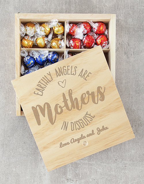 mothers-day: Personalised Earthly Angels Lindt Crate!