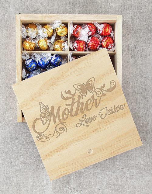 mothers-day: Personalised Butterfly Mother Lindt Crate!