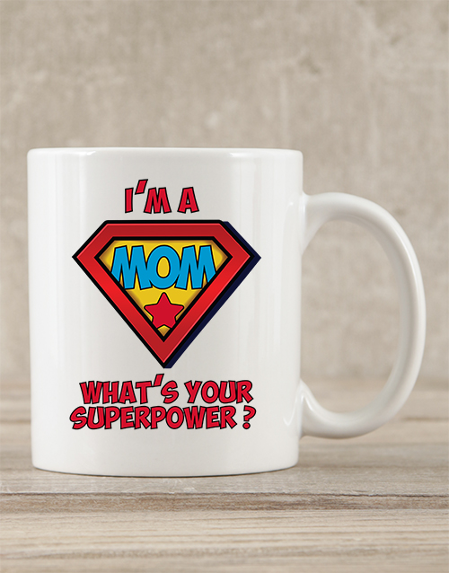 mothers-day: Personalised Mom Superpower Mug!