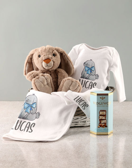 personalised: Personalised Watercolour Bunny Clothing Set!