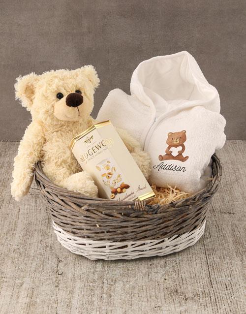 personalised: Personalised Bear Love Baby Gown!