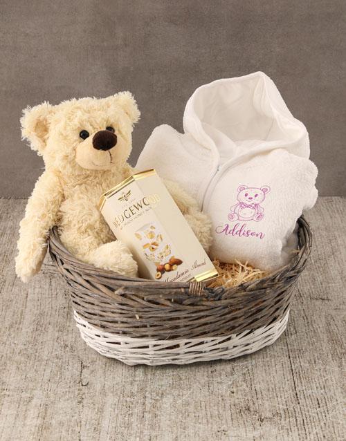 personalised: Personalised Teddy Sketch Baby Gown!