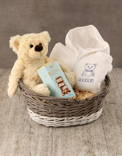 personalised: Personalised Sketched Bear Baby Gown!