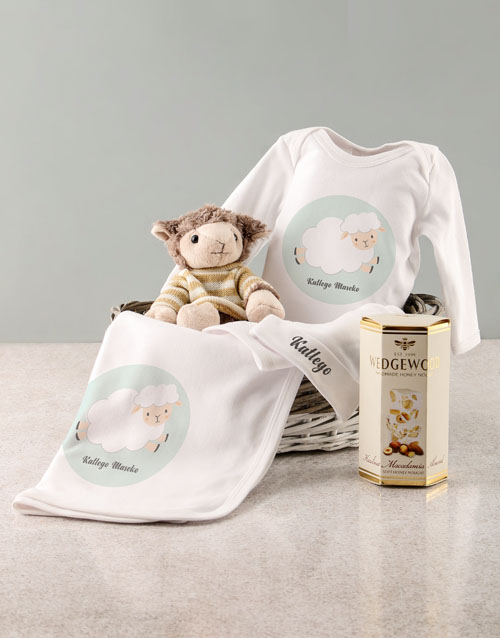 personalised: Personalised Sheep Baby Gift Set!