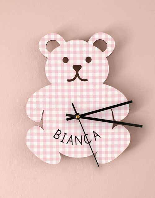 home-decor: Personalised Baby Girl Nursery Clock !