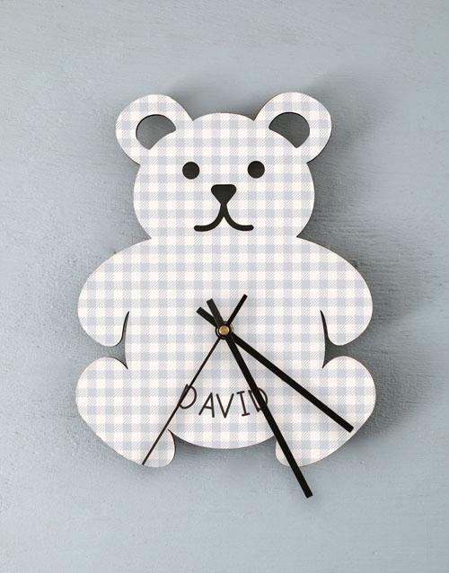 home-decor: Personalised Baby Boy Nursery Clock !