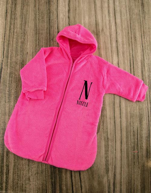 personalised: Personalised Baby Sleeping Hamper in Pink!