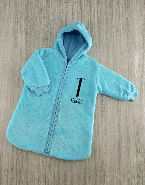 personalised: Personalised Baby Sleeping Hamper in Blue!