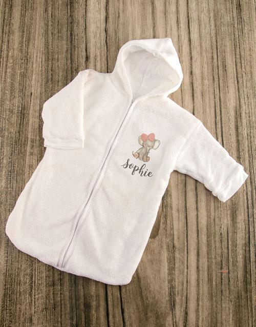 personalised: Personalised Pink Elephant Baby Sleeping Hamper!