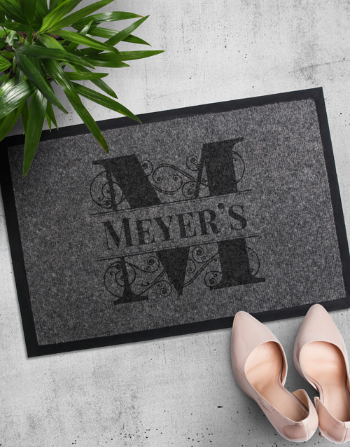 home-decor: Personalised Family Initial Doormat!