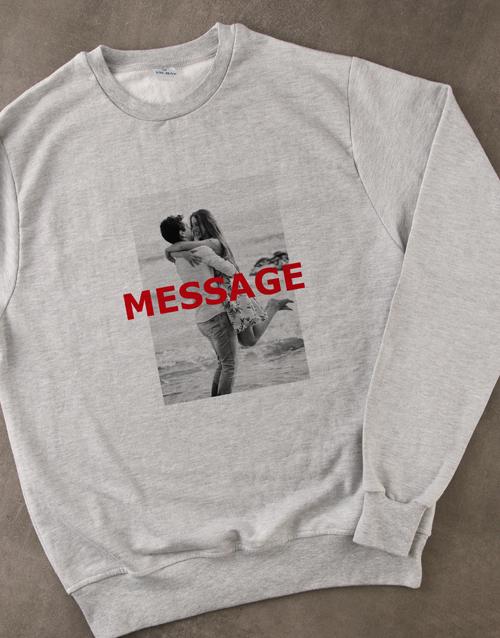 clothing: Personalised Photo Overlay Grey Sweatshirt!