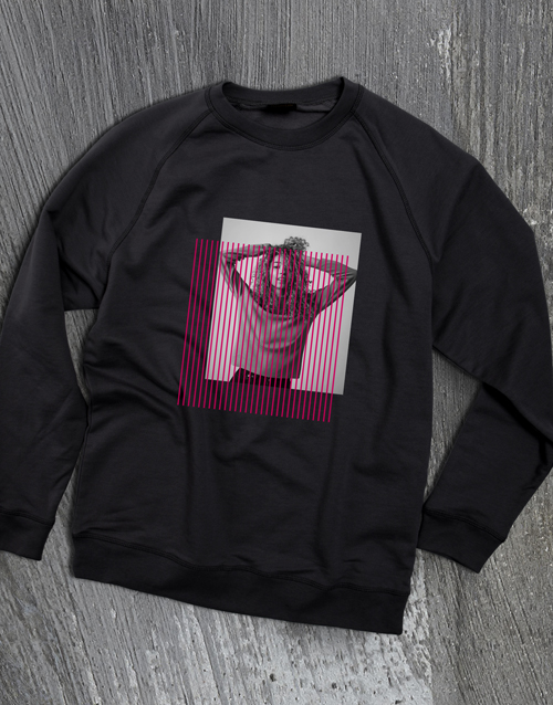 personalised: Personalised Colour Bar Black Sweatshirt!