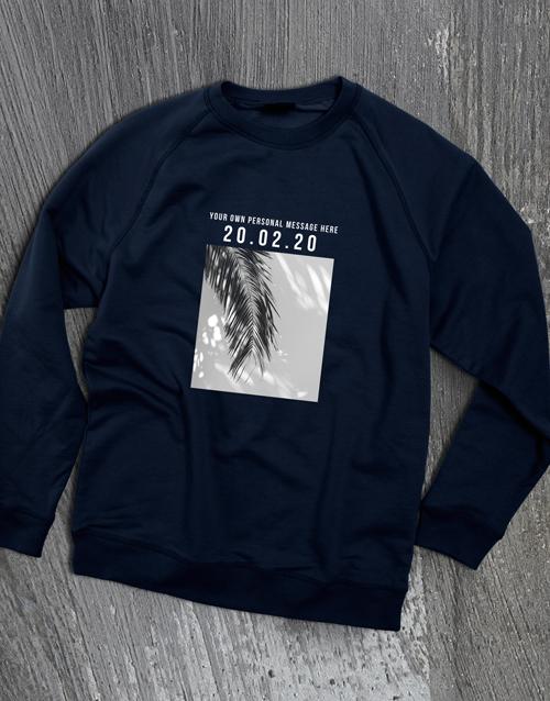clothing: Personalised Memory Time Navy Sweatshirt!