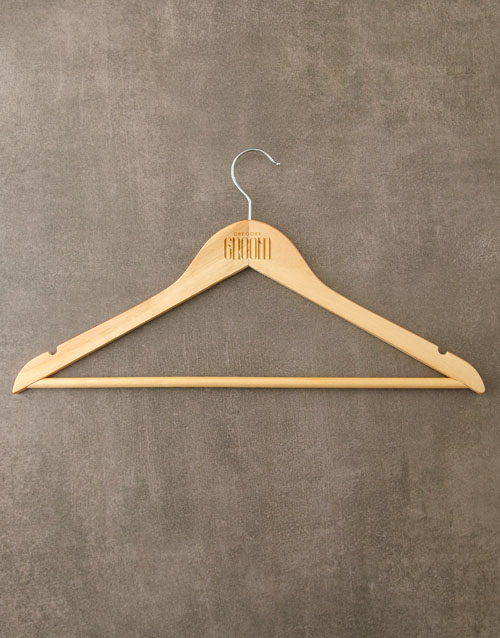 personalised: Personalised Groom Hanger !