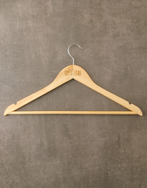 personalised: Personalised Best Man Hanger!