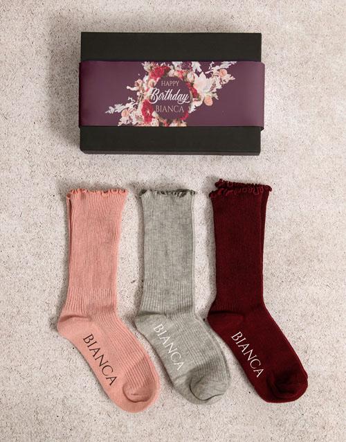 apparel: Personalised Happy Birthday Frills Sock Pack!