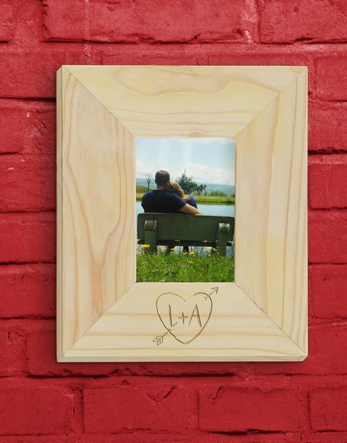 personalised: Personalised Heart Photo Frame!